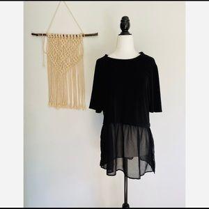 BCBGeneration women's black blouse size large